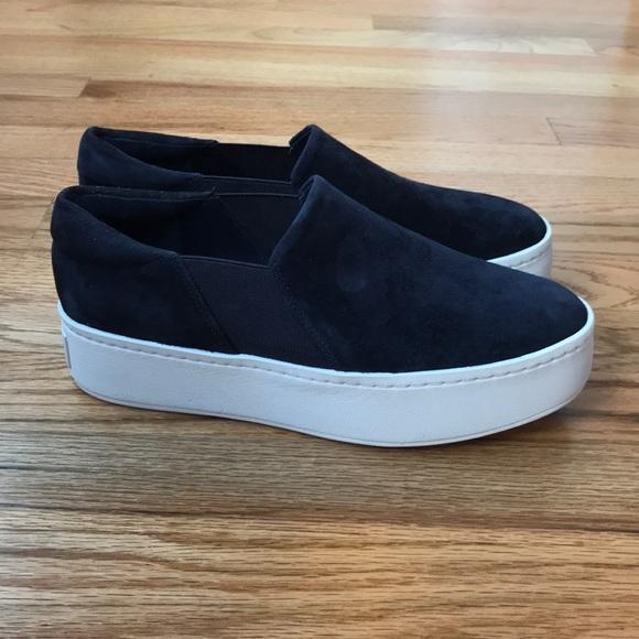 Vince Warren Suede Platform Sneakers